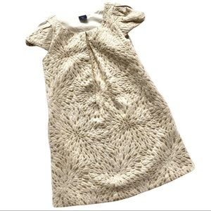 GAP gold and cream dressy dress size 4-5 years
